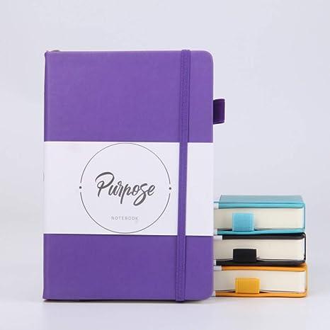 ZHUIUI Cuaderno Cuaderno de Cuero de la PU Cuaderno de Tapa ...
