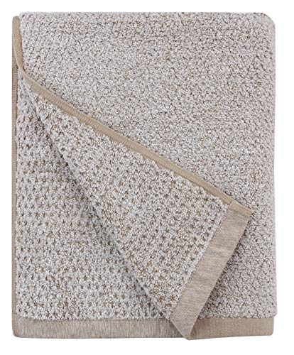 Everplush Diamond Jacquard Quick Dry Bath Towel, 1 Pack (30 x 56), Khaki (Light Brown)