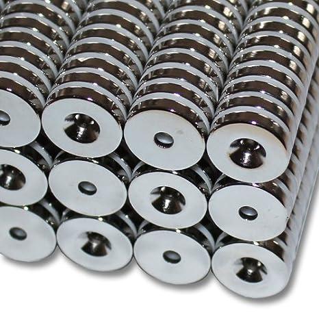 Schwarz 5 NEODYM MAGNETE  15 x 15 x 5mm NdFeB N45 Quadermagnet Epoxy
