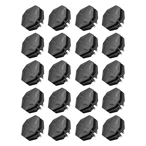 (SONGMICS Wire Cube Plastic Connectors for Modular Organizer Closet and Wire Grid Storage Shelving Unit, 20 Pieces, ABS Connector with 8 Slots, Black AULPC0B20)