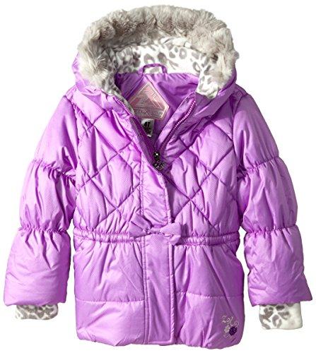 - ZeroXposur Little Girls' Toddler Marisa Midweight Jacket, Hyacinth, 3T