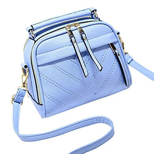 Cerui Bolso De Mujer Pequeño Prespunteado Bolso De Mano Clàsico Cielo azul