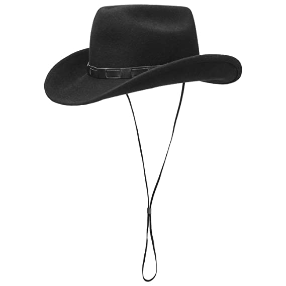c033c19e406 Lipodo Bill Cody Western Hat Chin Strap Wool Felt  Amazon.co.uk ...