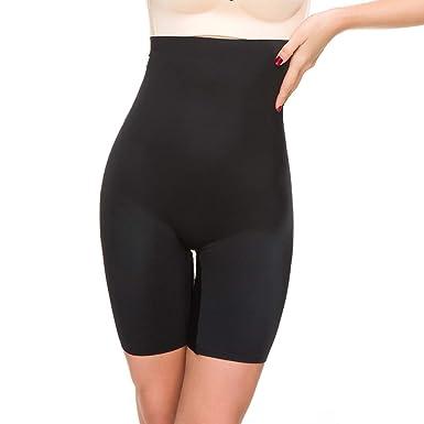 63a71d833e49a Shapewear for Women Thigh Slimmer Slip Short Control Panties Body Shaper  Under Dress Boyshorts (Black