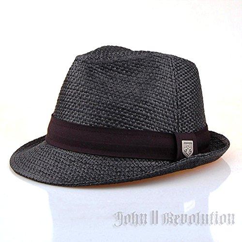 J2R Hemp Jute Straw Type Trilby Big Size Beach Fedora Hat JRJ019 7 1/4(22 5/8