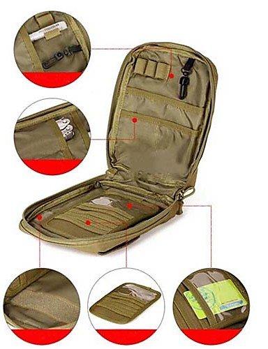 ZQ 5L L Gürteltasche Camping & Wandern / Laufen / Jogging Outdoor Wasserdicht / tragbar Braun Nylon OEM