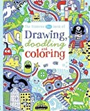 img - for Usborne Blue Book of Drawing Doodling and Coloring by James MacLaine (2015-06-01) book / textbook / text book