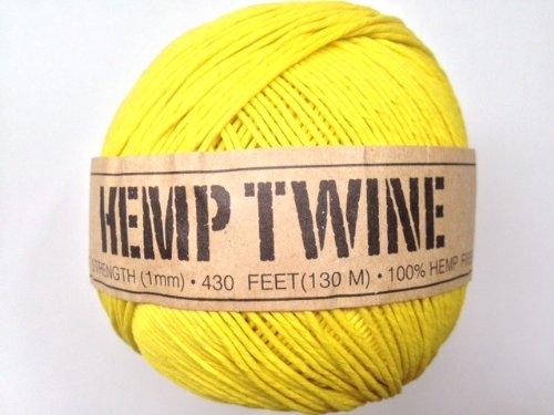 UPC 858431004087, Yellow Hemp Twine Cord 1mm 143yd 130m 430ft DIY