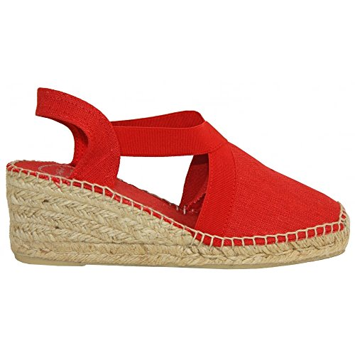 Espadrilles Pons Toni Wedge Red Womens Talons Ter 7BqP6