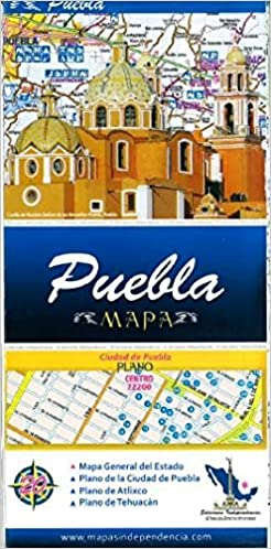 Map Of Spain Distances Between Cities.Puebla Mexico State And Major Cities Map Spanish Edition
