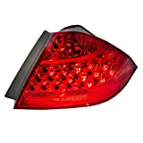 Passengers Taillight Tail Lamp with Red Quarter Panel Mounted Lens Replacement for Honda 33501SDAA32
