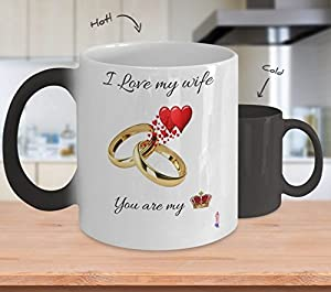 i love my wife you are my queen colour changing mug