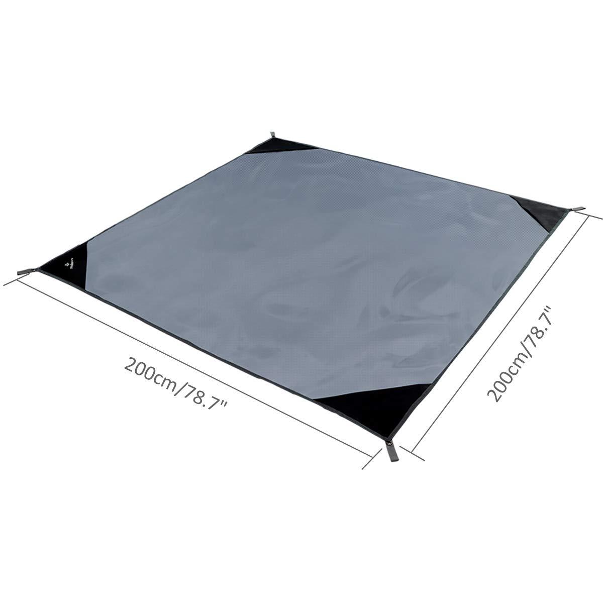 Acampada con 4 Estacas Met/álicas Plegable Port/átil Impermeable Ligero para Viajar PHILORN Grande Manta de Picnic Esterilla de Playa 200/×150 cm