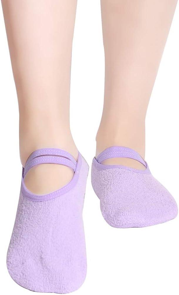 Fashion Ladies Girls Sport Pilates Yoga Non Slip Grip Socks for Ballet Yoga 6L