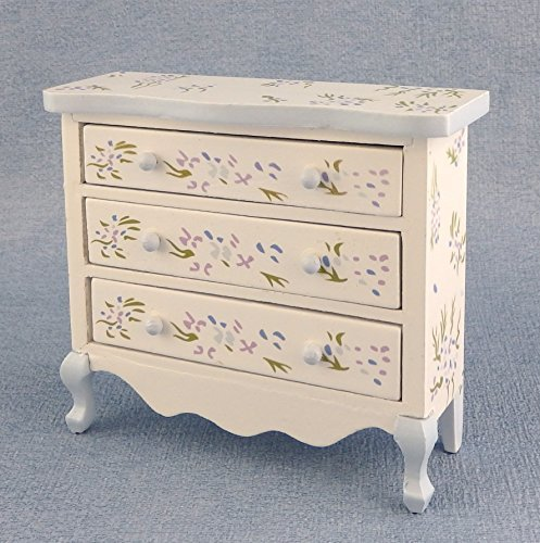 Melody Jane Dolls Houses House Miniature Bedroom Furniture Handpainted Blue Violet Chest Of (Dollhouse Miniature Bedroom Furniture)