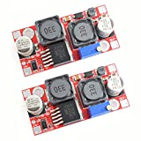 DZS Elec 2pcs DC-DC Auto Boost Buck Converter Red Board High Performance Low Ripple Adjustable Power Module 5.0-32V to 1.25-35V XL6009 Voltage Regulator