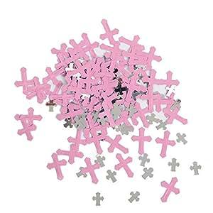 Confeti radiante en forma de cruz religiosa