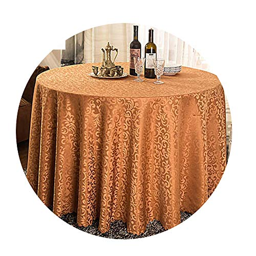 Pendant Nim - COOCOl Great 1Pc Multi Size White Polyester Hotel Dinner Table Cloth Round Washable Gold Crocheted Floral Tablecloth,Light Coffee,Square 180X180Cm
