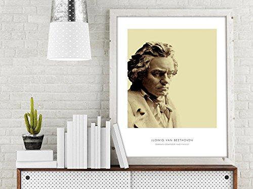 - Beethoven | Portrait of Beethoven, Beethoven Bust, Beethoven Photo, Beethoven Art Print, Modern Home Decor, Bust Print, Beethoven Portrait