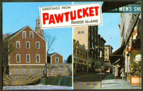 - W T Grant's Old Slater Mill Pawtucket RI postcard 1950s