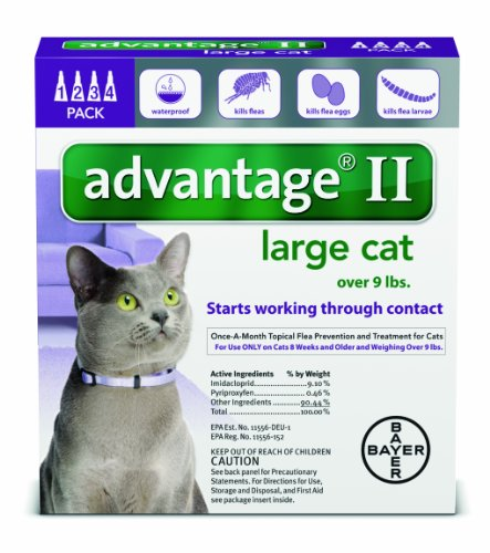 Advantage Ii Flea Prevention Large Cats  Over 9 Lbs   4 Doses