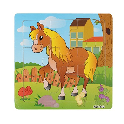 Learning Puzzles,Malltop Lovely Horse Wooden Jigsaw Toys For