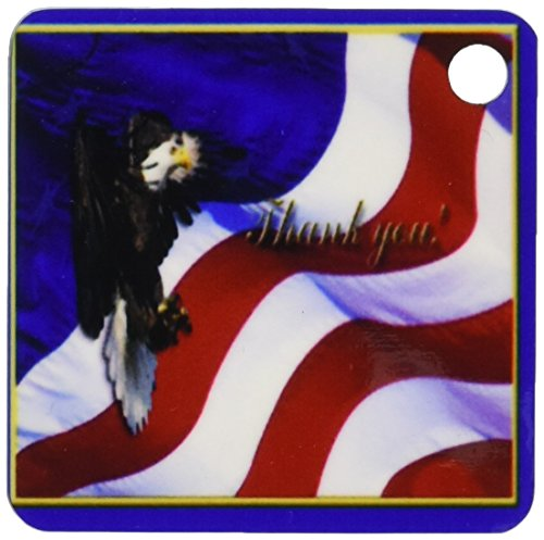 3d Rose 3dRose Thank you Bald Eagle with American Flag - ...