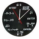 """DCI Pop Quiz reloj, negro y blanco, Metal, 11–1/2"""" de diámetro, matemáticas, profesor, Regalo, reloj de pared para..."""