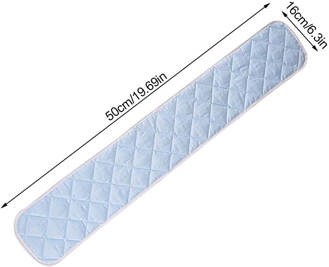 blau f/ür lange Seitenschienen sicheres Bei/ßband Josietomy Gepolsterte Schutzabdeckung f/ür Babybett 50 cm
