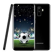Leagoo M9 Smartphone da 5.5 Pollici(18:9), 3G Cellulari in Offerta, Sensore di Impronte Digitali, Quad Core 1.3GHz, 2GB RAM + 16GB ROM, Quattro Fotocamera(F:5MP+2MP e P:8MP+2MP), Dual SIM, Android 7.0, 2850mAh, Bluetooth 4.0, Telefono Cellulare