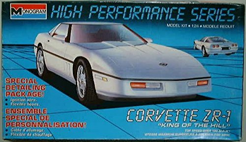 #2785 Monogram King of the Hill Corvette ZR-1 1/24 Scale Plastic Model Kit, Needs Assembly