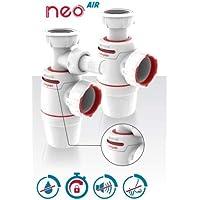 Wirquin Neo Air sifon voor wastafels, diameter: 32 mm, lekvrij, ventiel