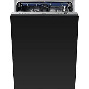 """Smeg 24"""" Fully integrated Dishwasher 13 Place Settings 10 Wash Cycles and 24 Hour Timer Delay, STU8647"""