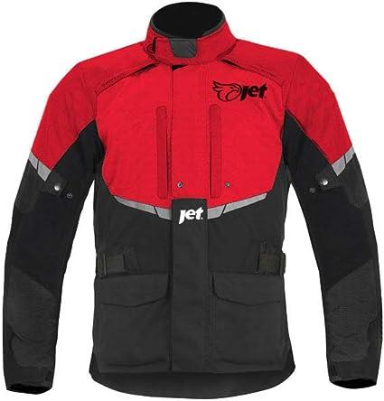 JET Chaqueta Moto Hombre Textil Impermeable con Armadura Tourer S EU 46-48 , Rojo
