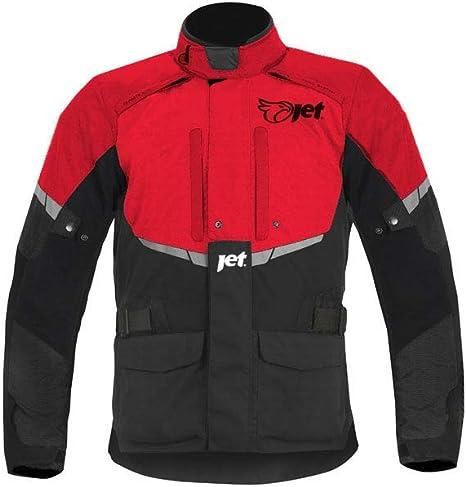 Fluro, XL JET Blouson Veste Moto Femme Imperm/éable Avec Armure Textile EU 42-44
