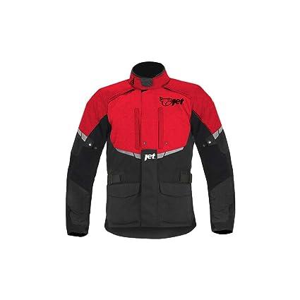 JET Chaqueta Moto Hombre Textil Impermeable con Armadura Tourer (M (EU 48-50), Rojo)