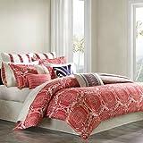 Echo Cozumel Comforter Set, Twin, Coral