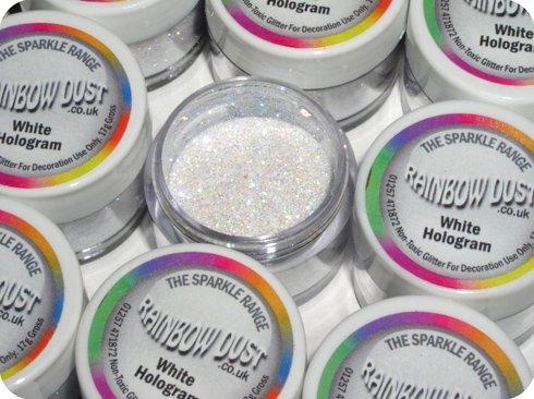 White Hologram Cake Decorating Glitter