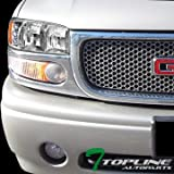 yukon denali fog lights xenon - Topline Autopart Factory OE Style Chrome Housing Clear Lens DRL Led Head Lights Lamps Amber Aw For 1999-2006 2007 GMC Sierra 2000-2006 Yukon / XL / Denali