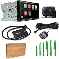 Pioneer Bundle Package AVH-4200NEX Bluetooth DVD/CD Receiver with Pioneer ND-BC8 Universal Rear-View Camera, SiriusXM SXV300V1 Tuner and Free Free Ginsu Nuri Cutlery Set