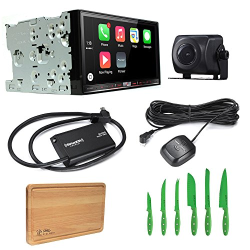 Pioneer Bundle Package AVH-4200NEX Bluetooth DVD/CD Receiver with Pioneer ND-BC8 Universal Rear-View Camera, SiriusXM SXV300V1 Tuner and Free Free Ginsu Nuri Cutlery Set (Pioneer Card Stereo)