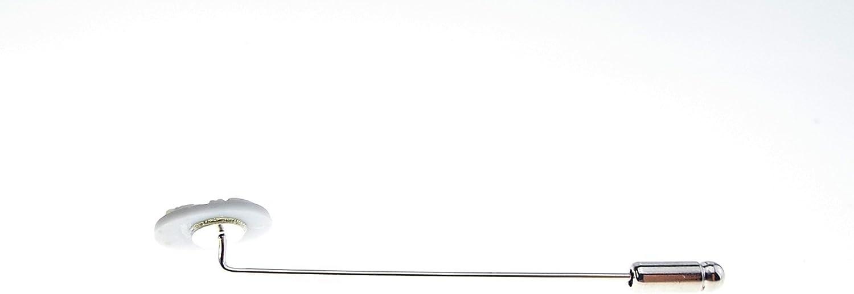 14 x 10 mm Bijoux mari/é homme Sur pic argent/é cam/é en r/ésine Cr/éation artisanale. gris et blanc /Épingle /à cravate ovale