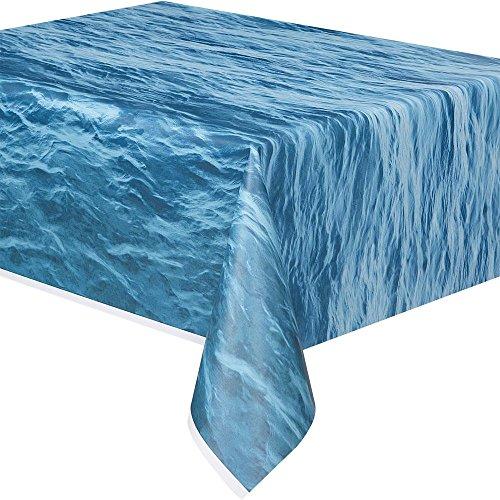 [Ocean Waves Plastic Tablecloth, 108