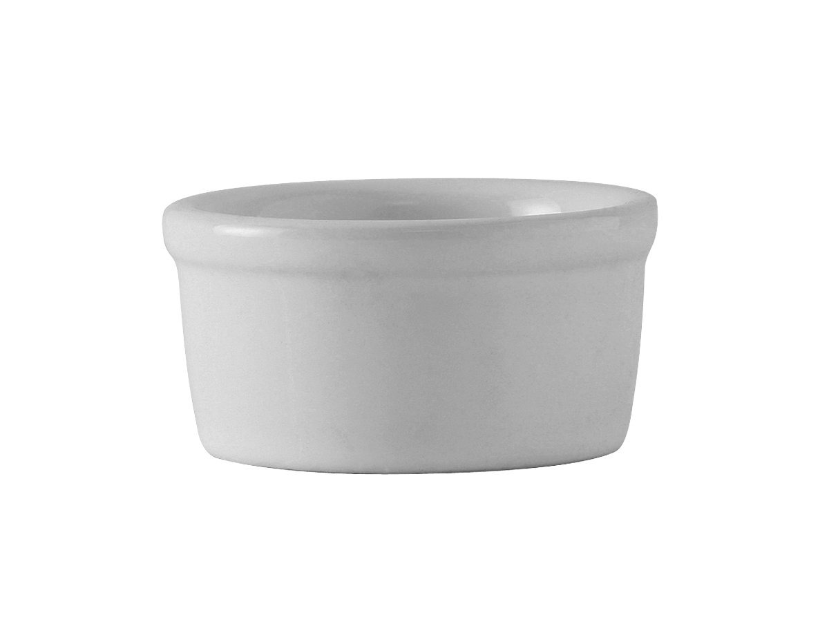 Tuxton BWX-035 Vitrified China Ramekin, 3-1/2 oz, 3-1/4'', White (Pack of 48),
