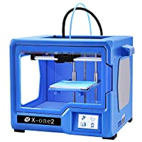 QIDI TECHNOLOGY 3D Printer, New Model: X-one2 (Red-Blue Version), Fully Metal Structure, 3.5 Inch Touchscreen by RUIAN QIDI TECHNOLOGY CO.,LTD