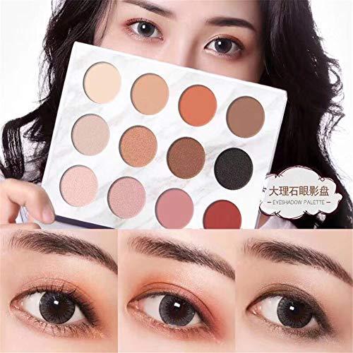 VERONNI Eye Makeup Marble Eyeshadow Palette 6 Glitter 6 Matte 12 colors High Pigment Shimmer Warm Eye Shadow Palette (Marble 12 color Eyeshadow)