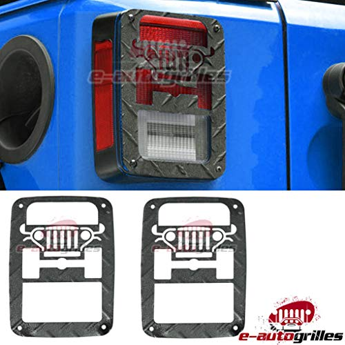 E-Autogrilles Rear Tail Light Guard Stainless Steel for 07-17 Jeep Wrangler JK – Pair