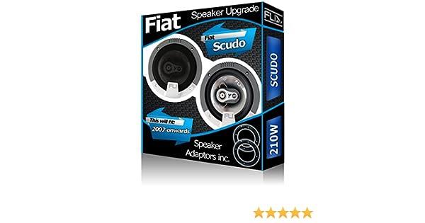 /Altavoces para coche Adaptador de altavoz Pods 210/W Fiat Scudo Altavoces de puerta delantera Fli/