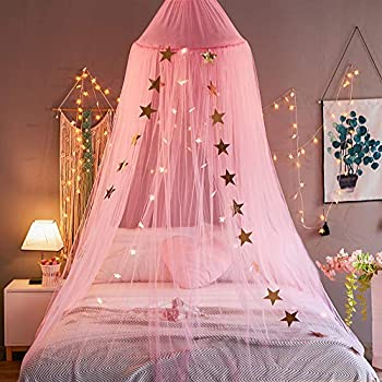 Mengersi bed canopy curtains net stars for - Bed canopies for adults ...