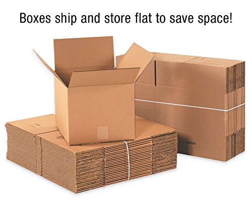 Boxes Fast BF36530FOL Side Loading Corrugated Cardboard Shipping Boxes, 36'' x 5'' x 30'', for Mirrors and Artwork, Kraft (Pack of 20) by Boxes Fast (Image #2)